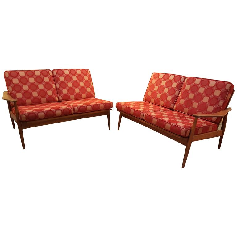 classic danish modern four seat sectional sofa for sale at
