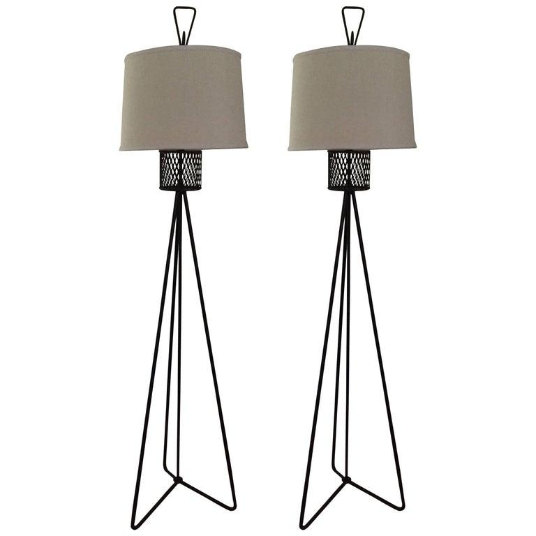 Single Frederick Weinberg Floor Lamp For Sale