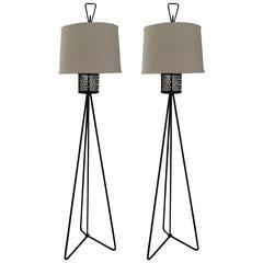 Pair of Frederick Weinberg Floor Lamps