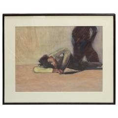 """""""Untitled"""" Oil on Translucent Paper by Ron Hoover, 20th Century"""