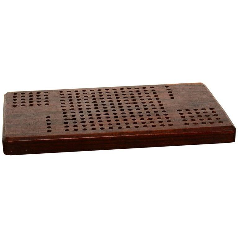 Vintage Rosewood Cribbage Board, 1960s