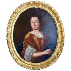 17th Century French Oval Old Master Painting