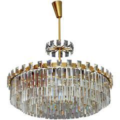 Huge Crystal Glass Chandelier Designed by Oswald Haerdtl for J.L.Lobmeyer Vienna
