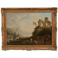 18th Century Coastal Capriccio, Follower of Claude Joseph Vernet