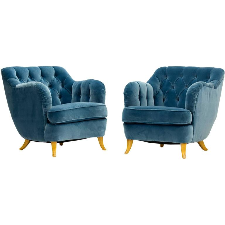 Pair of Lounge Chairs by Elias Svedberg for NK