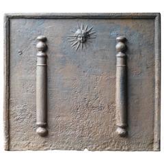 17th Century Pillars of Hercules with Sun Fireback