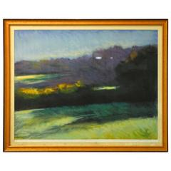 """John Stockwell Serigraph """"Late Light,"""" 1992"""