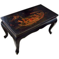 Art Deco Coffee Opium Table with Chinese Decor