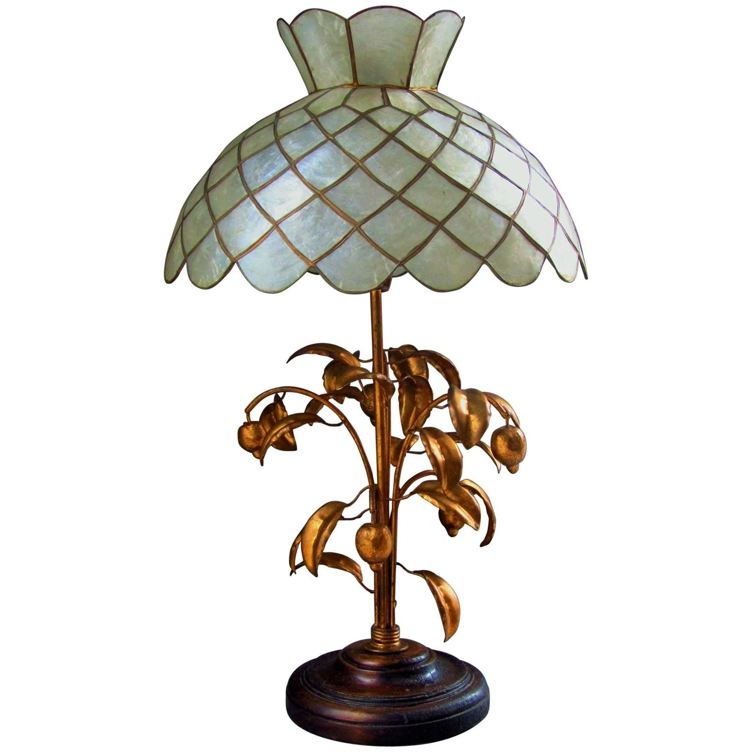art deco table desk lamp mother of pearl 1940 for sale at. Black Bedroom Furniture Sets. Home Design Ideas