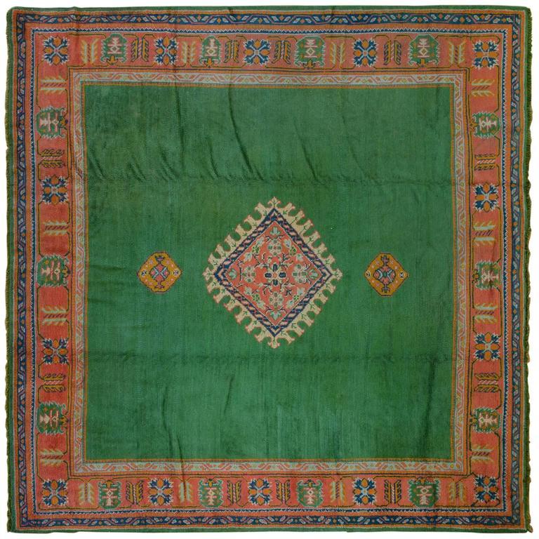 Green Antique Oushak Rug For Sale At 1stdibs