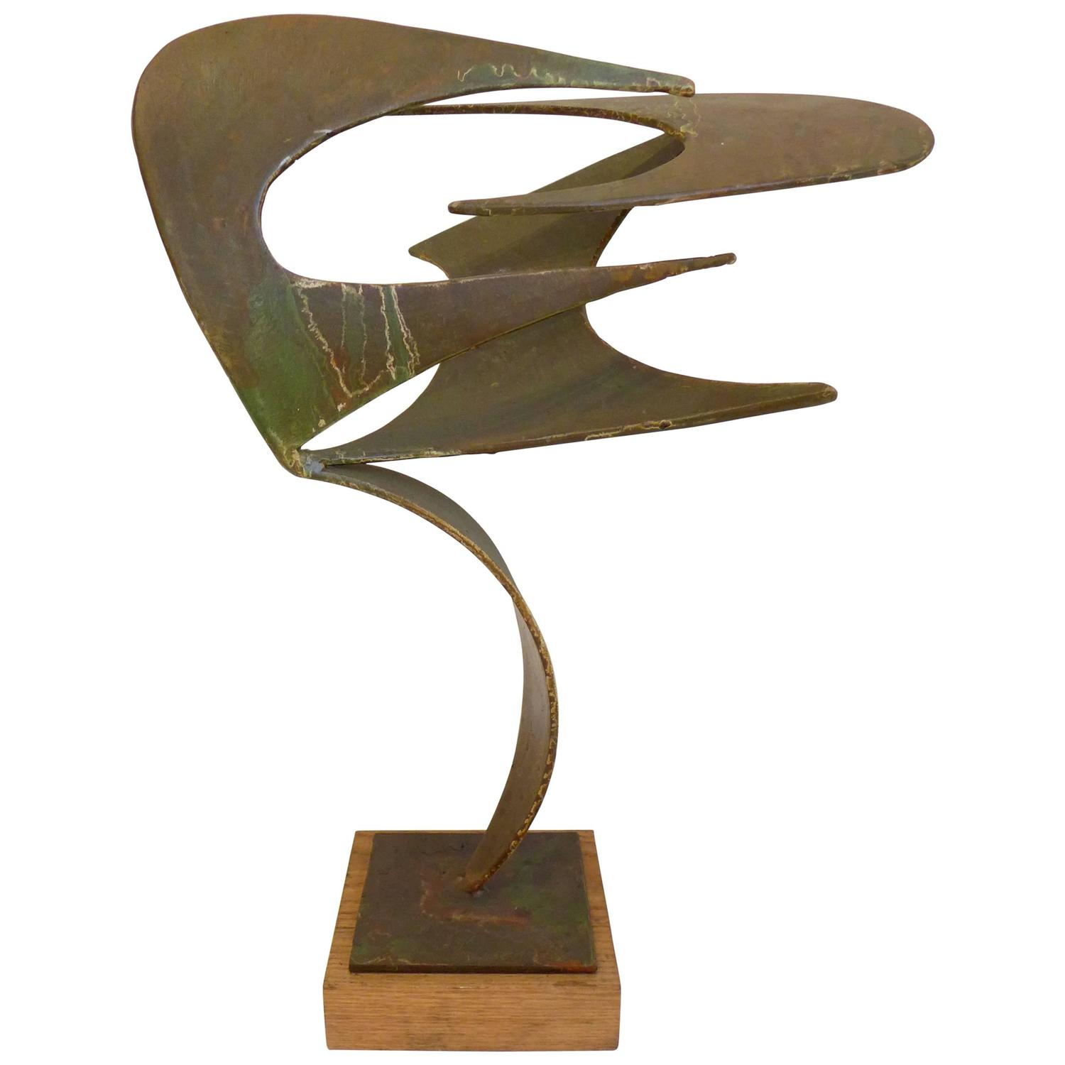 Abstract Steel Sculpture By James Bearden For Sale At 1stdibs