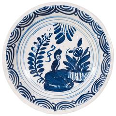 Blue and White Delft Charger
