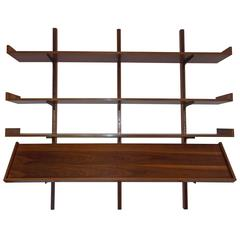 Rare Milo Baughman Wall Shelf with Magazine Rack