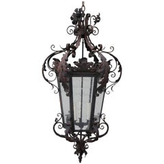 Spanish Wrought Iron Lantern, circa 1900