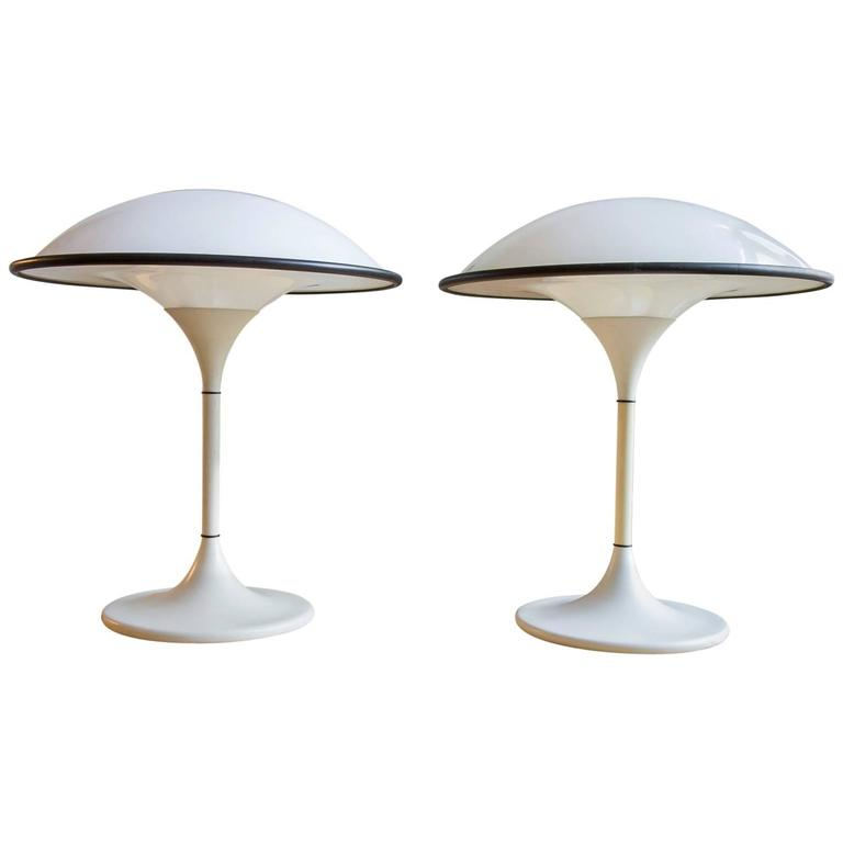Space Age Fog & Mørup Table Lamps, Pair