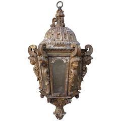 19th Century Italian Giltwood Lantern