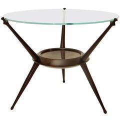 Italian Mid-Century Cesare Lacca Round Sofa Table, 1948