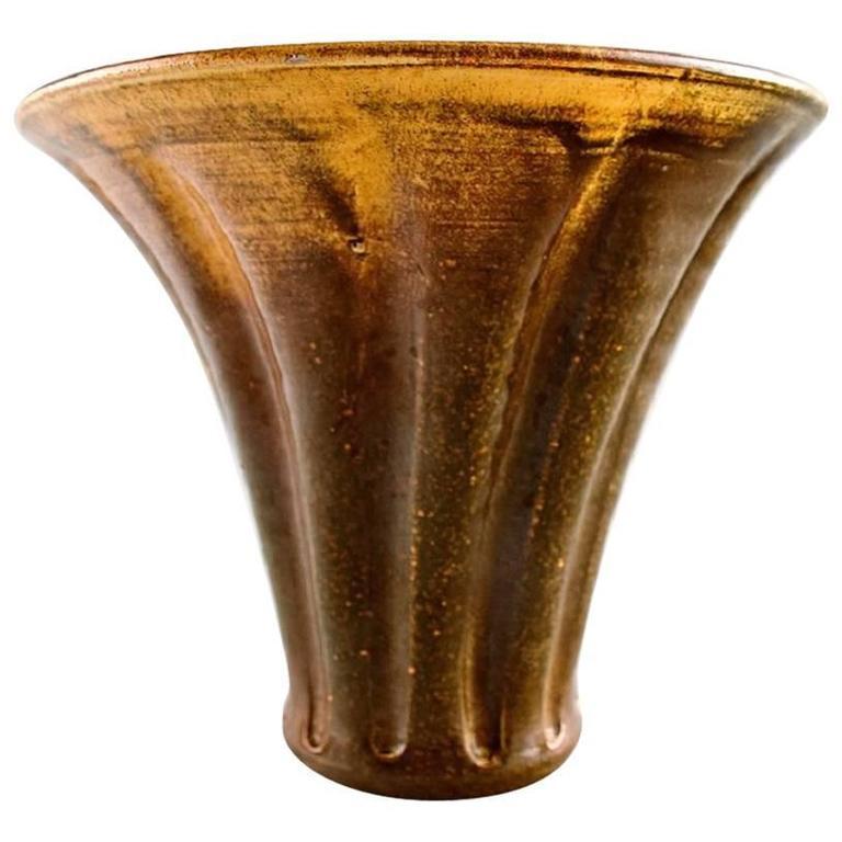 k hler hak svend hammersh i glazed stoneware vase for sale at 1stdibs. Black Bedroom Furniture Sets. Home Design Ideas
