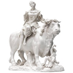 18th Century Viennese Figural Porcelain Group of Europa and Zeus