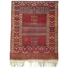 Antique Tribal Turkmene Hatchlou Carpet