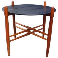 1960s Poul Hundevad Teak Side Table 'X Formation,' Danish Mid-Century
