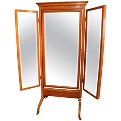 Sheraton Design Triple Plate Cheval Mirror