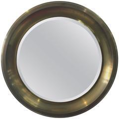 Oversized Italian Brass Mirror by Sergio Mazza for Artemide