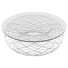 Villarceau Table in Steel and Glass by Philipp Aduatz