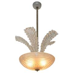 Barovier Murano Glass Leaf Chandelier or Pendant