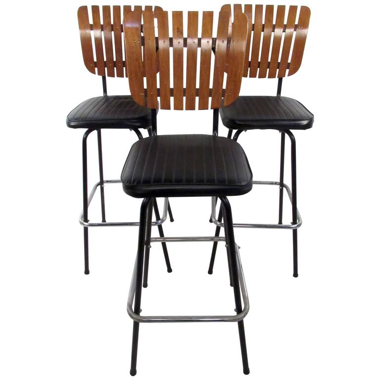 Three Mid Century Arthur Umanoff Stools For Sale At 1stdibs