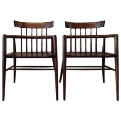 Paul McCobb Spindle Back Windsor Style Armchairs