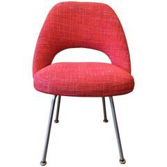 Eero Saarinen for Knoll Executive Side Chair with Chrome Legs