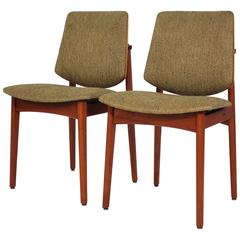 Arne Hovmand-Olsen Pair of Teak Side Chairs