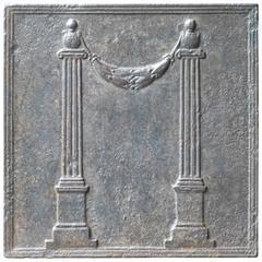 19th Century French Pillars Fireback