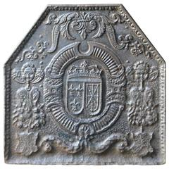 17th Century Arms of France and Navarre Fireback