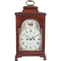 Very Nice and Charming 18th Century Mahogany English Country Bracket Clock