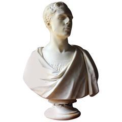 Fine Early Victorian Marble Bust of a Gentleman by Timothy Butler RA, circa 1841