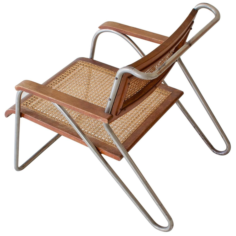 Bauhaus tubular steel lounge chair at 1stdibs - Bauhaus Tubular Steel Armchair By Erich Dieckmann For Cebaso Germany 1931 For Sale At 1stdibs