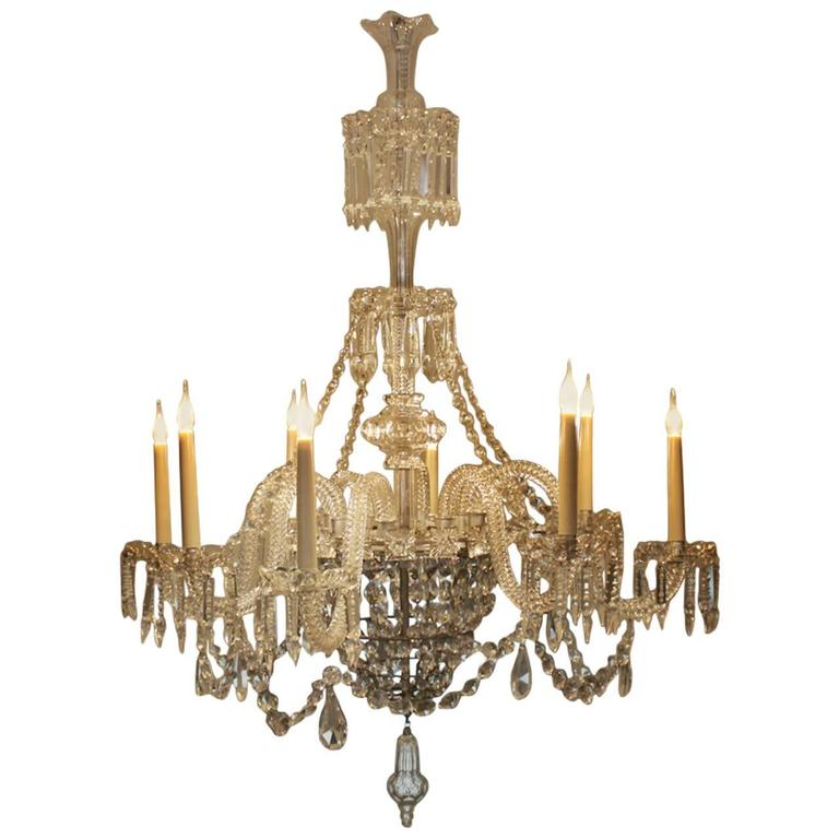 Eight arm glass chandelier circa 1920s at 1stdibs - Circa lighting chandeliers ...