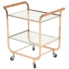 French Copper Bar Cart