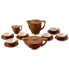 Art Deco - Streamline Porcelain Tea/ Coffee Set by C&E Carstens, Germany, 1930
