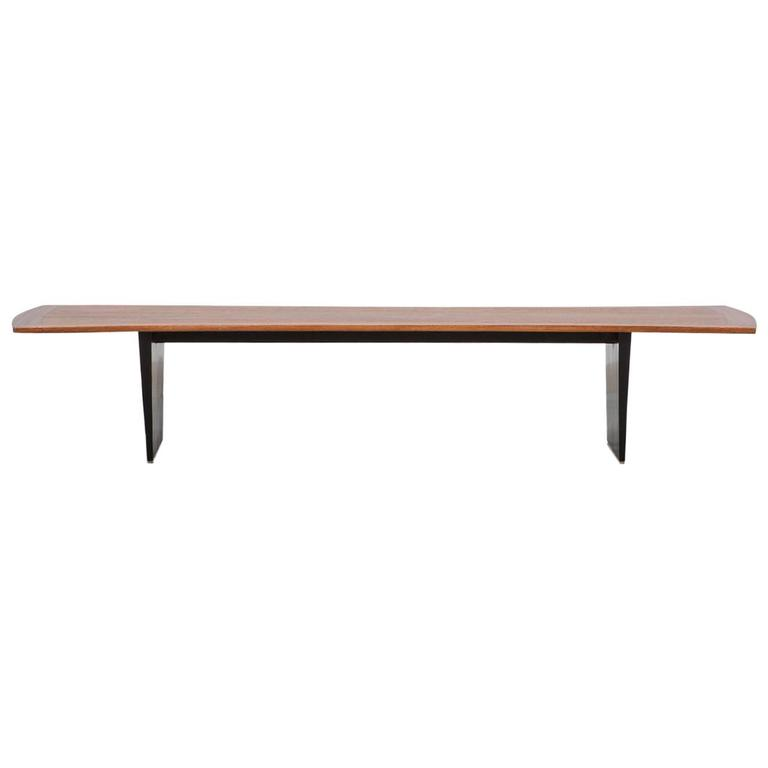 1950´s brown wooden Coffee Table by Harvey Probber
