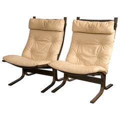 """Pair of Westnofa """"Siesta"""" Lounge Chairs by Ingmar Relling"""