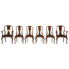 English Chinese Chippendale Dining Chairs