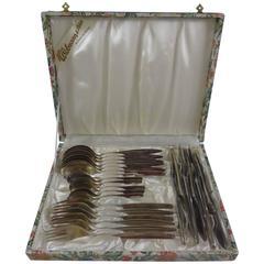 800 Silver Wmf #193 Flatware Set Service Dinner Size 24 Pieces in Vintage Box