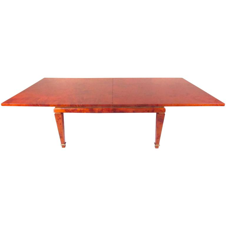 Aldo Tura Goatskin Dining Table