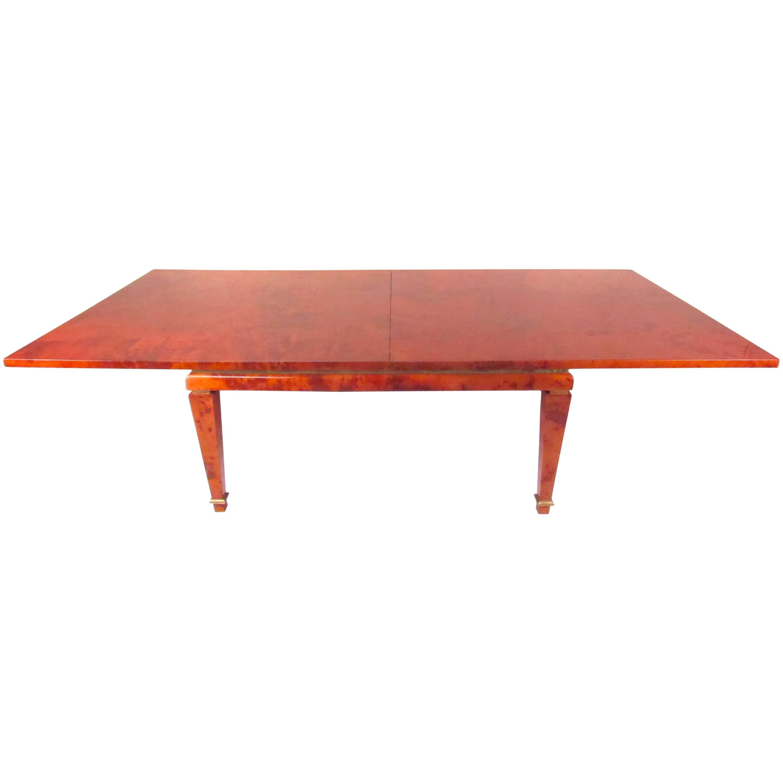 Aldo Tura Goatskin Dining Table