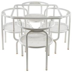 """Set of """"Locus Solus"""" Chairs and Table by Gae Aulenti for Poltronova"""