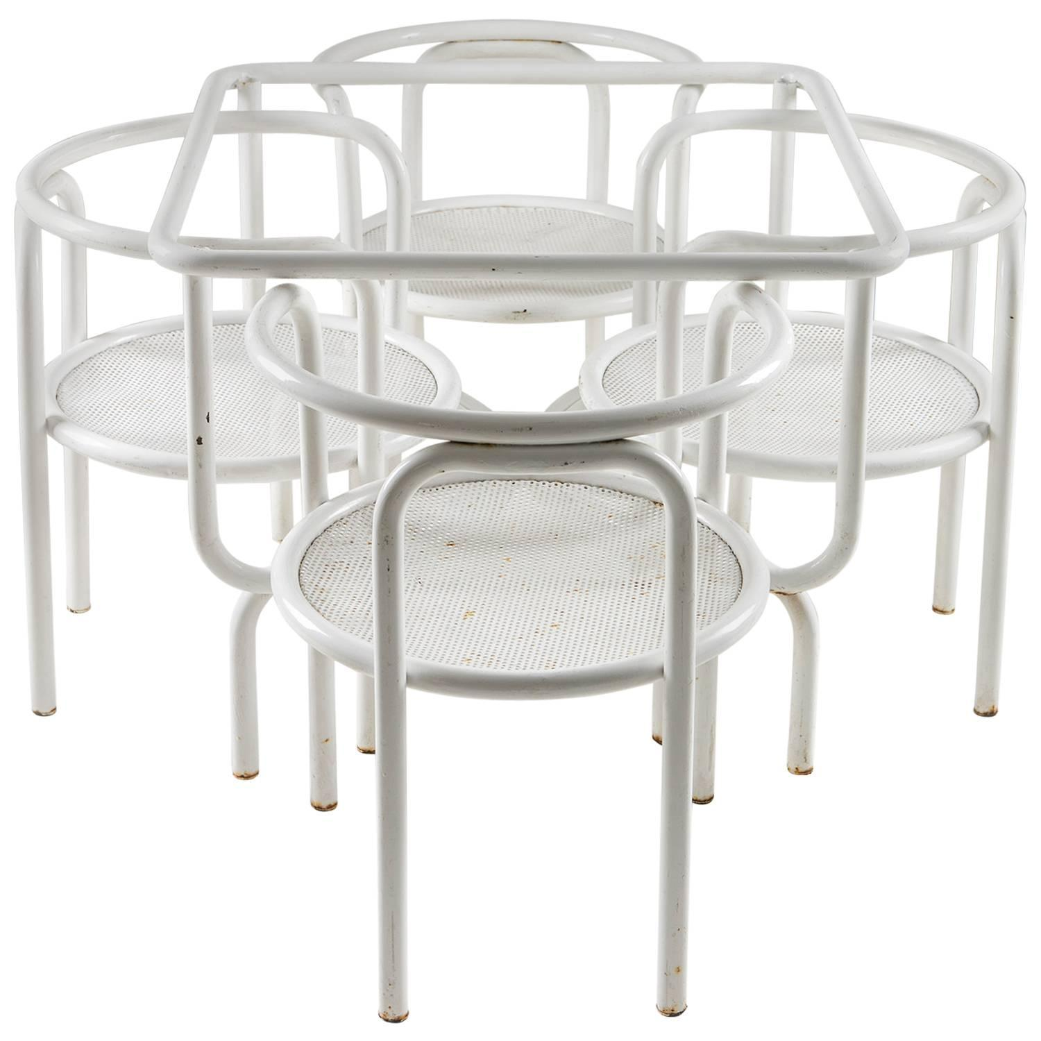 """Set of """"Locus Solus"""" Chairs and Table by Gae Aulenti for"""