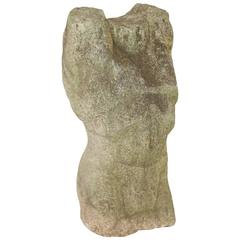 Carved Stone Torso Sculpture